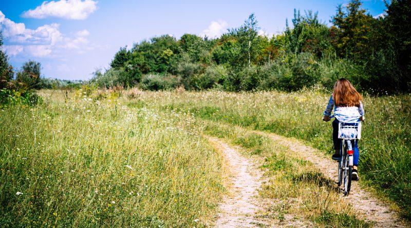 fata, natura, bicicleta, schimbari, stare, sanatate